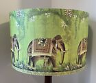 Shabby Chic Lamp Shade,lampshade Indian Elephant Green Free Gift
