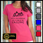 The Mountains are Calling I must Go Tshirt, Hiking Climbing T-shirt