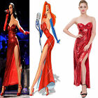 Sexy Red Sequin Slit Long formal gowns Evening cocktail Party Prom Women Dresses