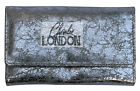 Silver Metallic Essence Collection Real Leather Purse Wallet - Charlie LONDON
