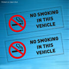 NO SMOKING IN THIS VEHICLE CLEAR STICKERS SIGNS VANS CARS TAXI COACH HGV X 2