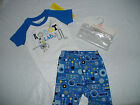 NWT GYMBOREE ROBOT LAB BLUE 2 PIECE SHORTS GYMMIES PAJAMAS SUMMER