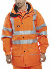 B-SEEN HI VIS CARNOUSTIE 3 IN 1 WATERPROOF & BREATHABLE JACKET - CAR