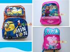 DESPICABLE ME Minions Pepper Pig Frozen Queen ELSA and ANNA School Bag Backpack