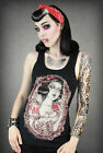 Snow White Schneewittchen Top Restyle Goth Rockabilly Tattoo Emo Zombie Horror