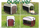 Red Brown Pet Dog Soft Crate Portable Carrier Travel Folding Cage Tent Kennel