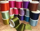 """Внешний вид - VINTAGE 3"""" Antique RAYON Blend Double Sided Satin Ribbon 1yd Made in France"""