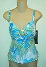 Coco Reef NWT  Tropical Print Tankini Top 32C-34C