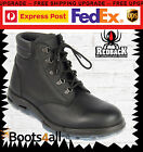 Redback Work Boots UABK Outback Soft Toe BLACK Lace Up Boot UK SIZE
