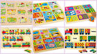 Wooden 123 number puzzles kids children jigsaws animals numerals educational NEW
