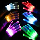 Light Gloves LED Finger Lighting Electro Rave Party Dance Skeleton Halloween USA
