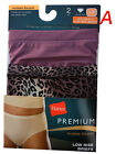 "Hanes Women's Panties BRIEFS 2-Pack NB39AS  ""LOW RISE BRIEFS"" Microfiber PREMIUM"