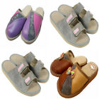 Women's Eco Leather / Wool Slippers Shoe Size 3 4 5 6 7 8 Thick sole