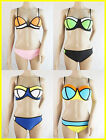 Women's Boohoo Block Colour Bikini Sets in 4 Designs
