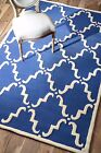 nuLOOM Hand Tufted Tuscan Trellis Contemporary Wool Blue Area Rug