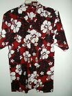 NWT JUNGLE BLOSSOM RED HAWAIIAN SHIRT 65% linen 35%cotton size SMALL