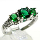 AWESOME 1.5 CT EMERALD 925 STERLING SILVER FILIGREE RING SIZE 5-10