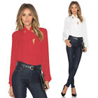 Women's Loose Long Sleeve Chiffon Casual Blouse Shirt Tops Fashion Blouse Shirt