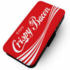 Enjoy Crispy Bacon - Faux Leather Flip Phone Cover Case - Coca Cola Parody £8.57  on eBay