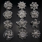 12PX silver crystal rhinestones brooches floriated brooch pins bouquet kit