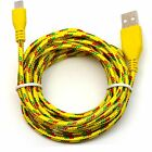 LOT 100x 10FT Micro USB Charger Sync Cable Nylon Braided for android cell phones
