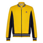 Fila Settanta Vintage Casual Mens Designer IconicTrack Top In Bright Yellow