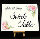 Wedding Roses Sweet Table Metal Plaque Sign