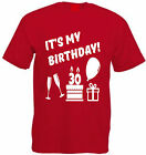 IT'S MY BIRTHDAY T-SHIRT 30th-39th All Ages Thirties Cotton Present Party Gift