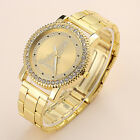 Fashion Women Men Geneva Stainless Steel Quartz Rhinestone Crystal Wrist Watch