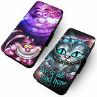 Stained Glass Cheshire Cat  -Printed Faux Leather Flip Phone Cover Case Alice