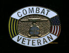 COMBAT AIR ASSUALT BADGE HAT LAPEL VEST PIN UP US ARMY VETERAN GIFT USA FLAG