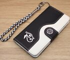 Horus Eye Wallet Leather Flip Handmade Stand Case Cover For Galaxy Note 3 4 5