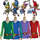 Game The legend of zelda Four Swords Link Cosplay Costume with Hat