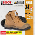 Mongrel 461050 Work Boots. Steel Toe Safety. Zip. Scuff Cap.  FREE GIFT OPTION!