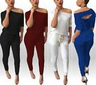 Sexy Women Clubwear Party Bodycon Playsuit Long Pants Tracksuit Rompers Trousers