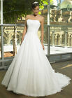 ELEGANT SILK CHIFFON WITH GATHERED CRISS CROSS BUST BRIDAL GOWN WITH LACE UP BAC