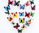 Lot 12-100pcs 3D Artificial Butterfly with Magnet Party Wedding Home Decoration
