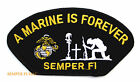 A US MARINE IS FOREVER SEMPER FI HAT PATCH US MARINES PIN UP VETERAN GIFT WOW