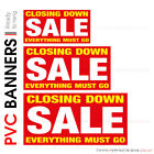 CLOSING DOWN SALE PVC BANNER PRINTING VINYL ADVERTISING PRINTED SHOP SIGNS