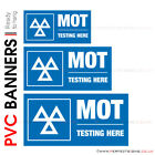 MOT TESTING HERE PVC BANNER PRINTING GARAGE SERVICE STATION SIGNS ADVERTISING