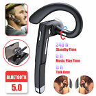 Wireless Headset Bluetooth 5.0 Earpiece Driving Trucker Noise Cancelling Earbuds