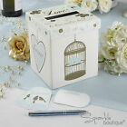 WEDDING WISHES POST BOX & MESSAGE CARDS -Vintage Birdcage-Guest Book Alternative