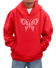 Butterfly personalised name diamante hoodie sweatshirt - ideal gift present