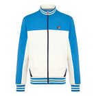 Fila Tiebreaker Vintage Casual Mens Designer Iconic Track Top In Blue and White