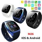M26 Bluetooth Wrist Smart Watch Waterproof Phone Mate For Android iOS Smartphone