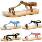 Ladies Womens Low Wedge Heel Slingback Strappy Gladiator Sandals Summer Shoes