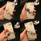 Bling 4 Color Diamonds Rose Ultra Soft Thin Clear Gel Case Cover For Samsung