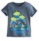 Disney Store Toy Story Aliens Baby Glow in the Dark T Shirt Size 12 18 24 Months