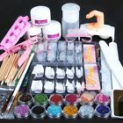New Acrylic Powder Glitter Nail Brush False Finger Pump Nail Art Tools Kit Set