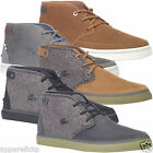 Lacoste Men's Clavel Mid Cut Boot Leather Canvas Lace Up Casual Trainers Shoes